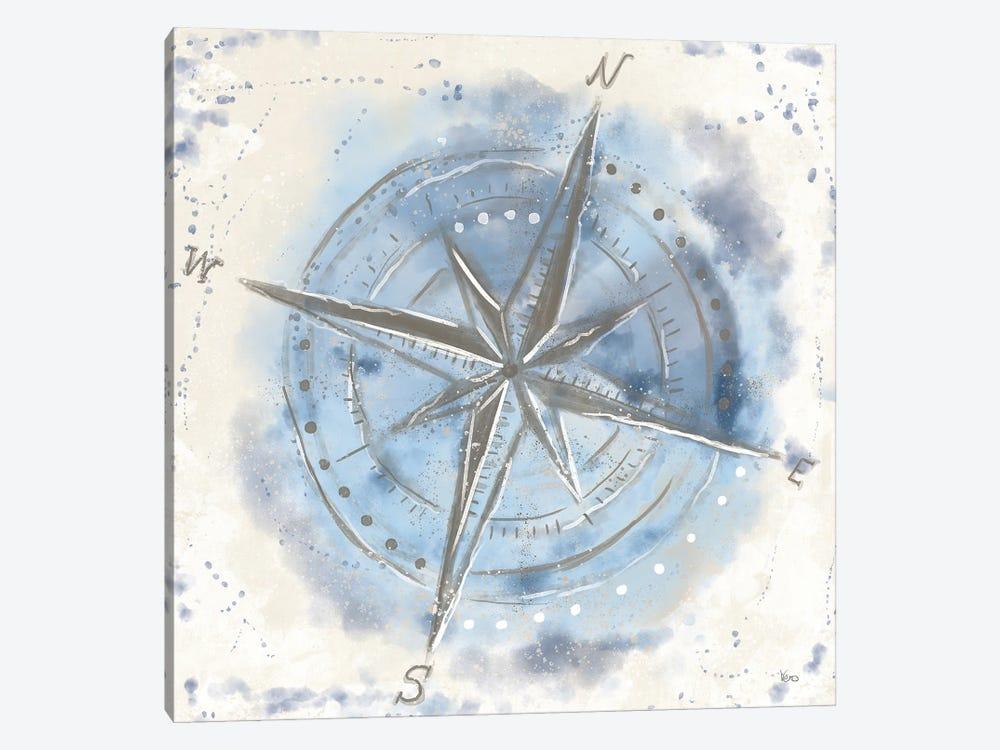 Explore the World III Blue Brown by Veronique Charron 1-piece Canvas Art Print