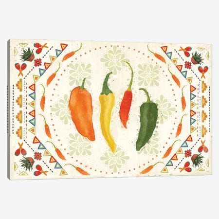 Tex Mex Fiesta I Canvas Print #VCH86} by Veronique Charron Canvas Artwork