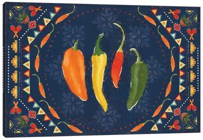Tex Mex Fiesta I Dark Canvas Art Print