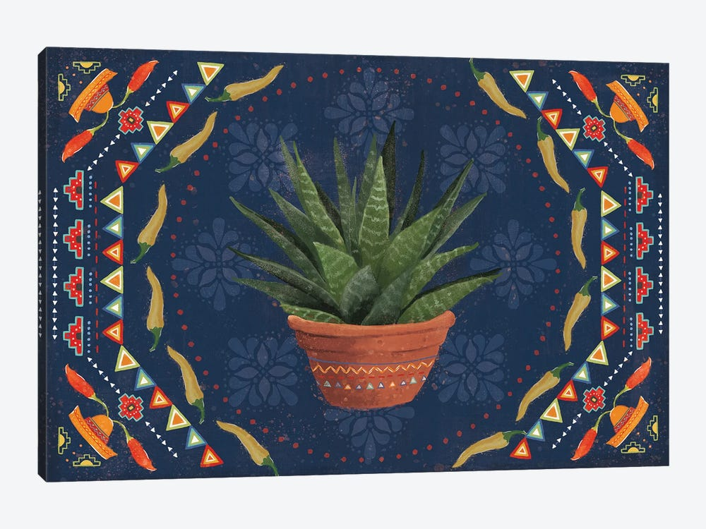 Tex Mex Fiesta II Dark by Veronique Charron 1-piece Canvas Art Print