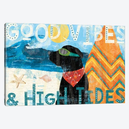 Good Vibes II Canvas Print #VCH8} by Veronique Charron Art Print