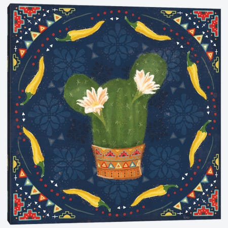 Tex Mex Fiesta IV Dark Canvas Print #VCH93} by Veronique Charron Canvas Art