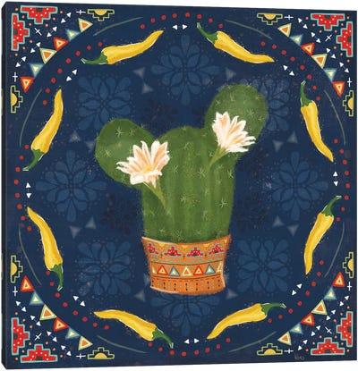 Tex Mex Fiesta IV Dark Canvas Art Print