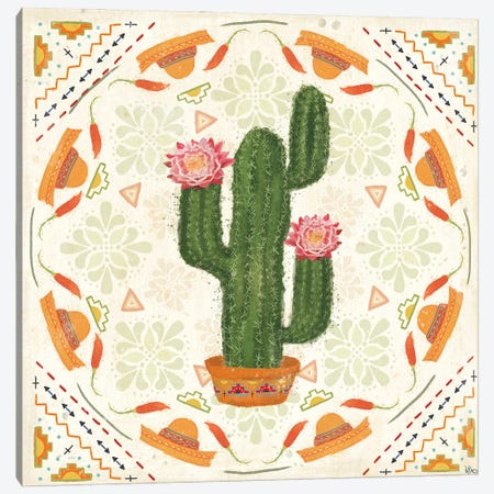 Tex Mex Fiesta V Canvas Print #VCH94} by Veronique Charron Art Print
