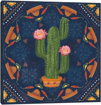 Tex Mex Fiesta V Dark Canvas Art Print
