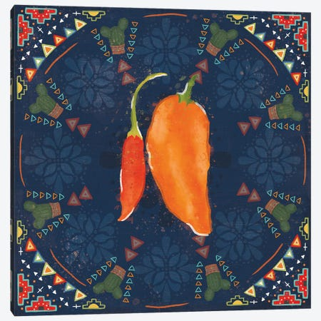 Tex Mex Fiesta VI Dark Canvas Print #VCH97} by Veronique Charron Art Print