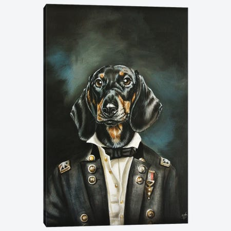 Distinguished Dachshund Canvas Print #VCO8} by Victoria Coleman Canvas Artwork