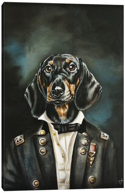 Distinguished Dachshund Canvas Art Print