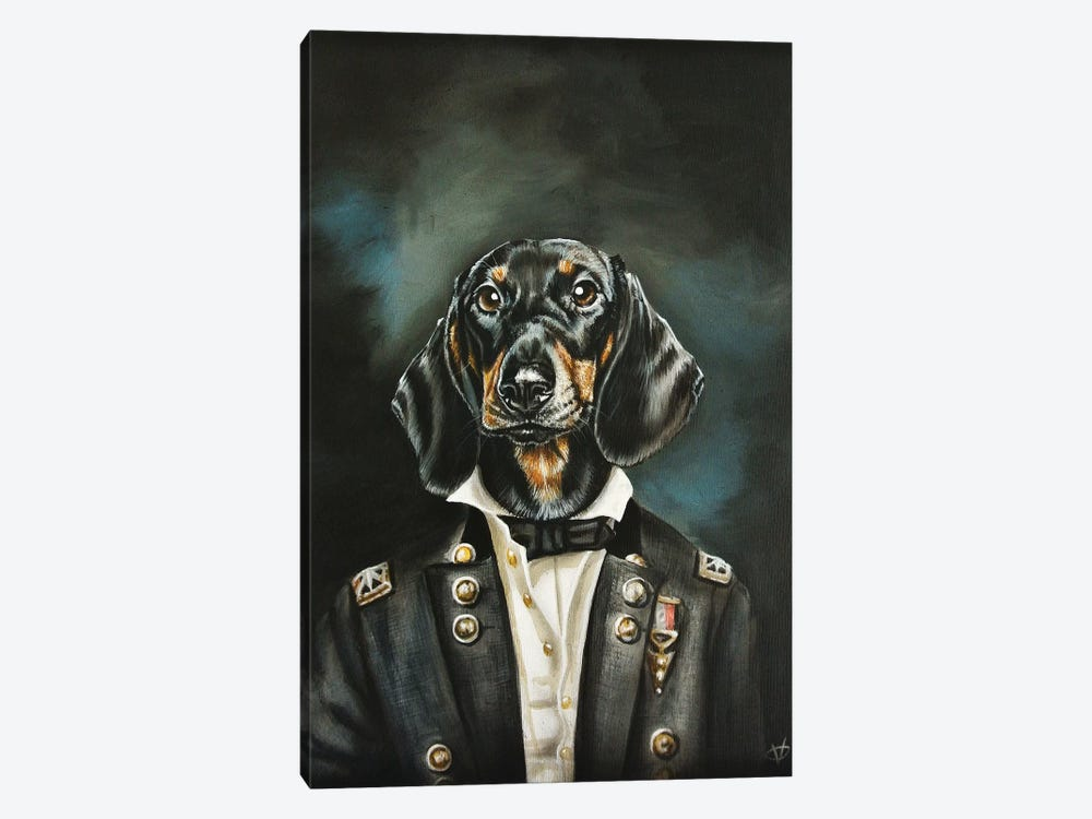 Distinguished Dachshund by Victoria Coleman 1-piece Canvas Wall Art