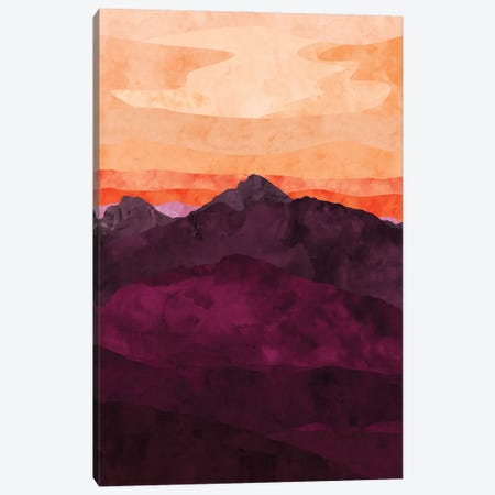 Purple Mountain at Sunset Canvas Print #VCR10} by Van Credi Canvas Art