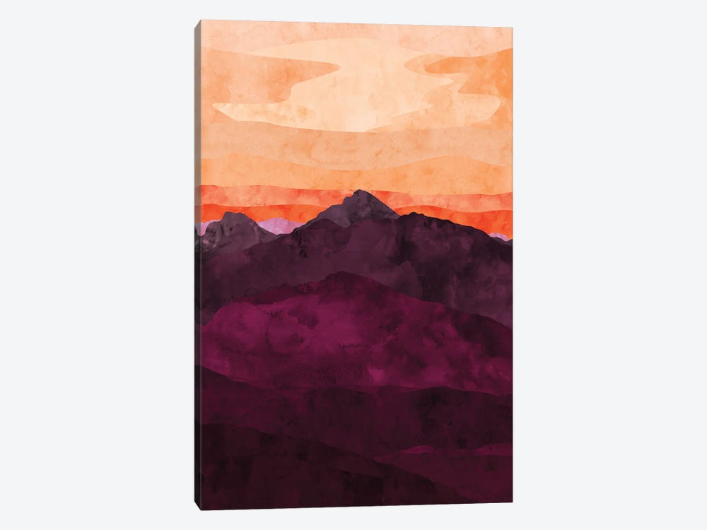 Purple Mountain at Sunset by Van Credi 1-piece Canvas Artwork