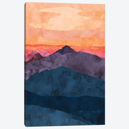Purple and Blue Mountain at Sunset Canvas Print #VCR11} by Van Credi Canvas Wall Art