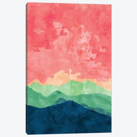 Green Mountains Canvas Print #VCR12} by Van Credi Canvas Wall Art