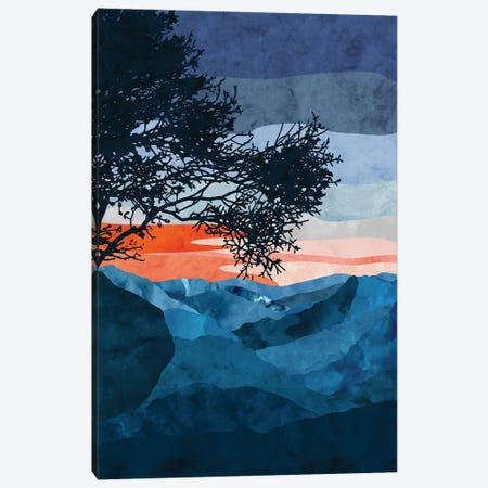 Twilight Mountains Canvas Print #VCR13} by Van Credi Canvas Art