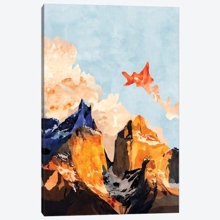 Clouded Mountains Canvas Print #VCR15} by Van Credi Art Print