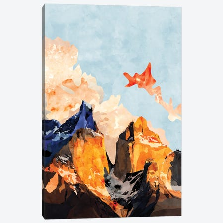 Clouded Mountains Canvas Print #VCR15} by Van Credi Art Print