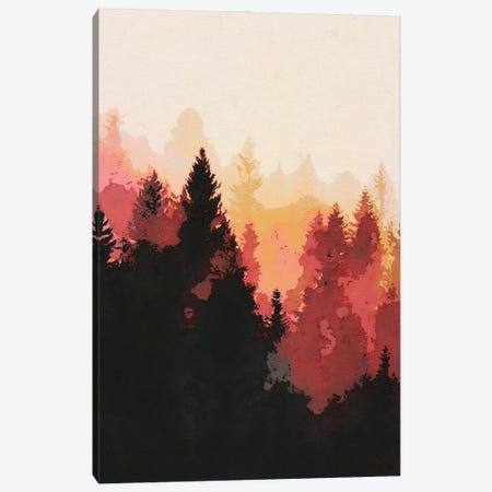 Red Forest Landscape Canvas Print #VCR17} by Van Credi Canvas Print