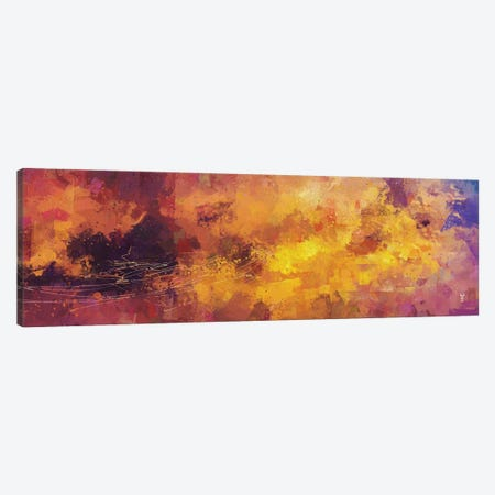 Red and Yellow Abstract Canvas Print #VCR19} by Van Credi Canvas Wall Art