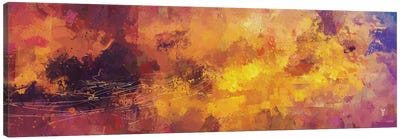 Red and Yellow Abstract Canvas Art Print