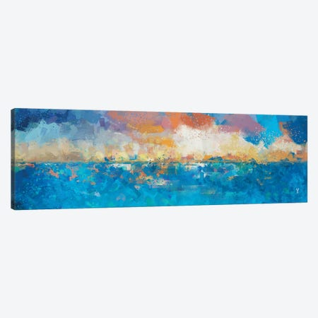 Sunset Seascape I Canvas Print #VCR20} by Van Credi Art Print