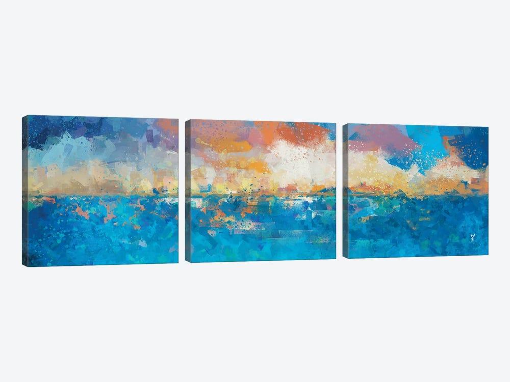 Sunset Seascape I by Van Credi 3-piece Art Print