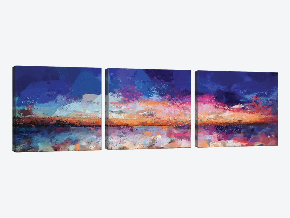 Sunset Seascape II by Van Credi 3-piece Canvas Art Print