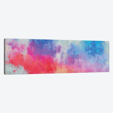 Pink, Red, and  Blue Abstract Canvas Print #VCR26} by Van Credi Canvas Wall Art