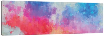 Pink, Red, and  Blue Abstract Canvas Art Print