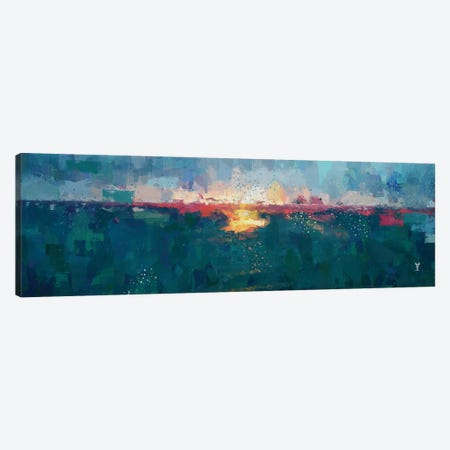 Sunset Seascape III Canvas Print #VCR28} by Van Credi Canvas Art Print