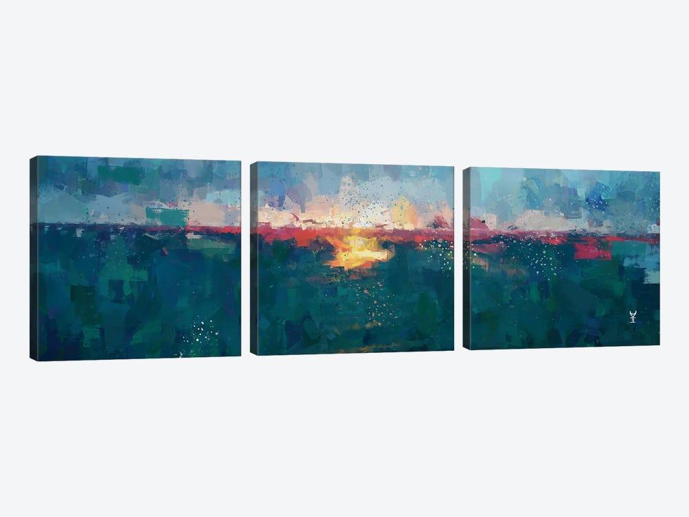 Sunset Seascape III by Van Credi 3-piece Canvas Print