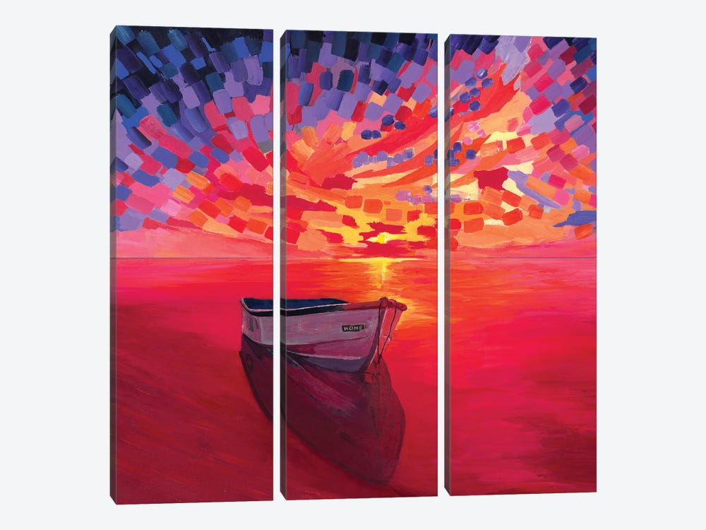 Nowhere by Van Credi 3-piece Canvas Art