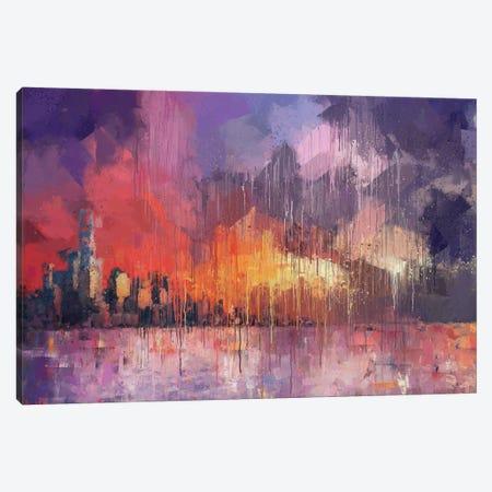 Sunset Skyline Canvas Print #VCR34} by Van Credi Canvas Print