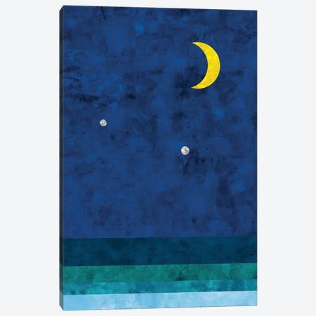 Moon And Sea Canvas Print #VCR35} by Van Credi Canvas Art Print