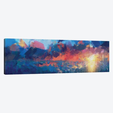 Defiant Cobalt Canvas Print #VCR40} by Van Credi Canvas Print