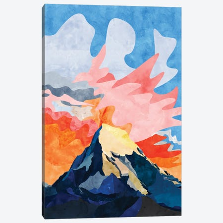 Mountain at Sunset Canvas Print #VCR5} by Van Credi Art Print