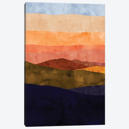 Sunset Ridge Canvas Print #VCR7} by Van Credi Canvas Art Print