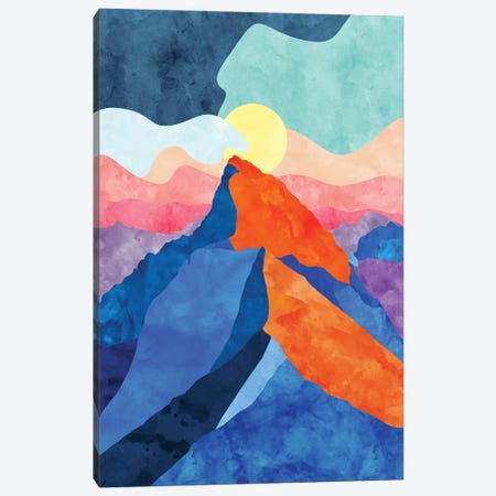 Colorful Mountain Canvas Print #VCR9} by Van Credi Canvas Art