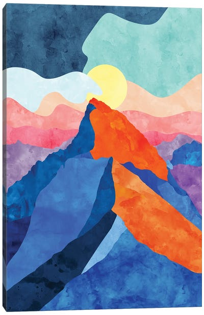 Colorful Mountain Canvas Art Print