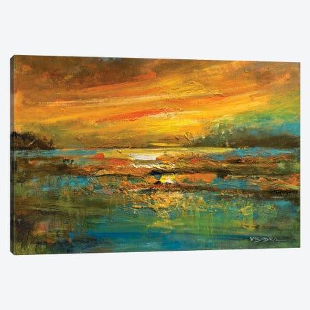 Gold Mist Canvas Print #VDR101} by Vishalandra Dakur Canvas Wall Art