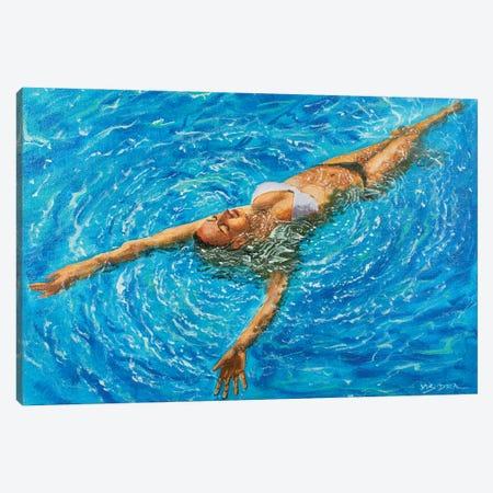 Girl Swimming LVII Canvas Print #VDR107} by Vishalandra Dakur Canvas Art Print