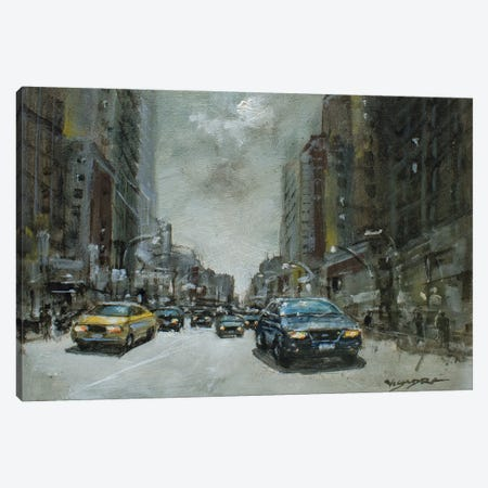 New York City Afternoon Canvas Print #VDR13} by Vishalandra Dakur Art Print