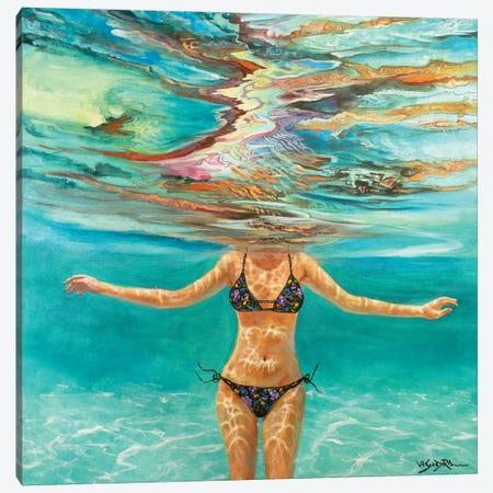 Swimming Girl X Canvas Print #VDR1} by Vishalandra Dakur Canvas Print