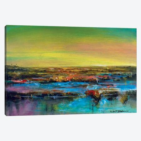 Horizon Silence Canvas Print #VDR29} by Vishalandra Dakur Canvas Artwork
