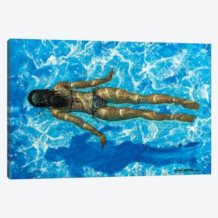 Girl Swimming XXXVIII Canvas Print #VDR35} by Vishalandra Dakur Canvas Artwork