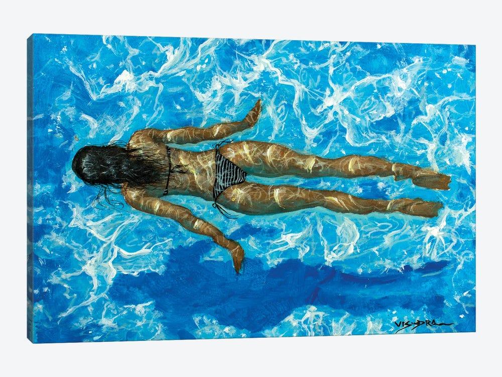 Girl Swimming XXXVIII by Vishalandra Dakur 1-piece Canvas Art Print
