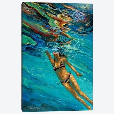 Girl Swimming XVII Canvas Print #VDR37} by Vishalandra Dakur Canvas Wall Art