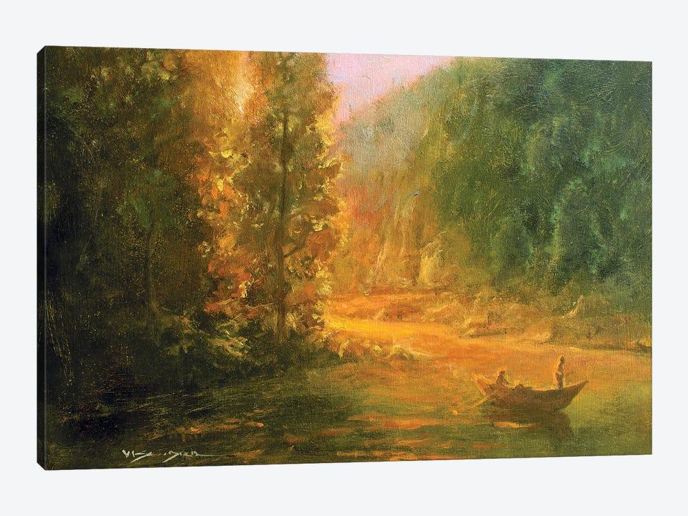 Fishing by Vishalandra Dakur 1-piece Canvas Wall Art