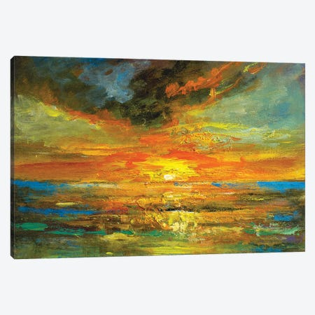 Golden Sun Canvas Print #VDR43} by Vishalandra Dakur Canvas Artwork