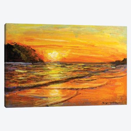 Beach I Canvas Print #VDR49} by Vishalandra Dakur Canvas Art