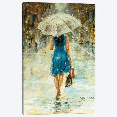 New York City In Rain II Canvas Print #VDR53} by Vishalandra Dakur Canvas Art Print